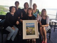 Launching Midsummer Art & Craft Fair were, from left: Margaret O'Shea, Maria McSwiney, Mary Kelly.  Front Row L -R Christine Gallagher, Mairead Moriarty and Nuala Finnegan