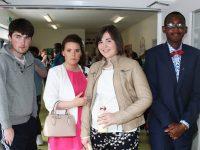 At St Ita's St Joseph's Graduation, Tamara Gleeson, Fiona McCarthy and Tomiwe Cole. Photo by Gavin O'Connor