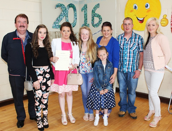 At St Ita's St Joseph's Graduation, Tom, Bridget, Tamara, Elisha, Martina and Stephen Gleeson and Paula O'Mahony. Photo by Gavin O'Connor.