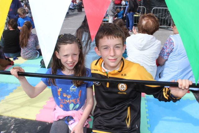 Rachel and Kevin Barry, Tralee, at the Feile Failte at Banna Beach on Saturday. Photo by Dermot Crean