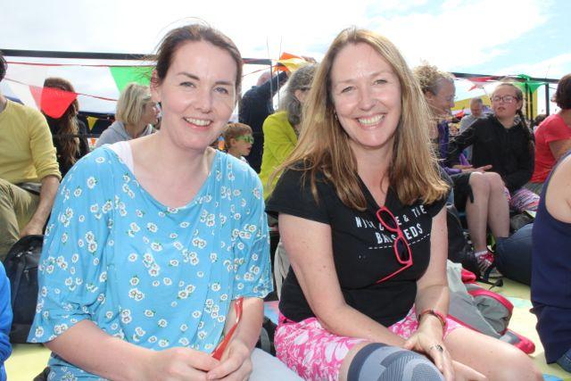 Moira Spillane, the Spa, and Margaret Spillane, Annagh, at the Feile Failte at Banna Beach on Saturday. Photo by Dermot Crean