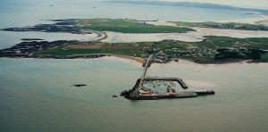 Fenit marina from above