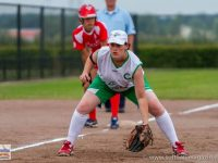 Grace Kearney in action for the Ireland fastpitch team