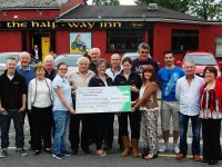 The cheque handover from the Castleisland Vintage Rally to Kerry Cancer Support Group Kerry Cork Link Bus. Photp by Gavin O'Connor.