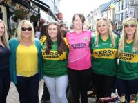 North Kerry ladies Catriona O'Connor, Michelle O'Brien, Marie O'Mahony, Vicky Sheehy, Emer O'Mahony and Jackie O'Carroll in Killarney before the Munster Finals on Sunday. Photo by Dermot Crean