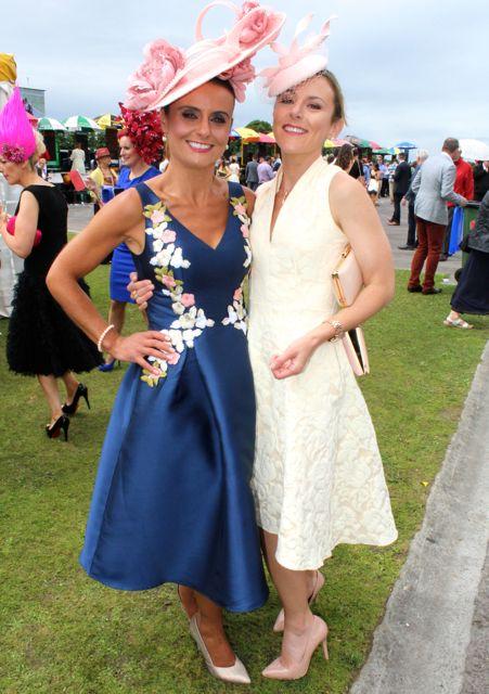 Tasha O'Connor and Jordana O'Connor at the Dawn Milk Ladies Day at Killarney Races on Thursday. Photo by Dermot Crean