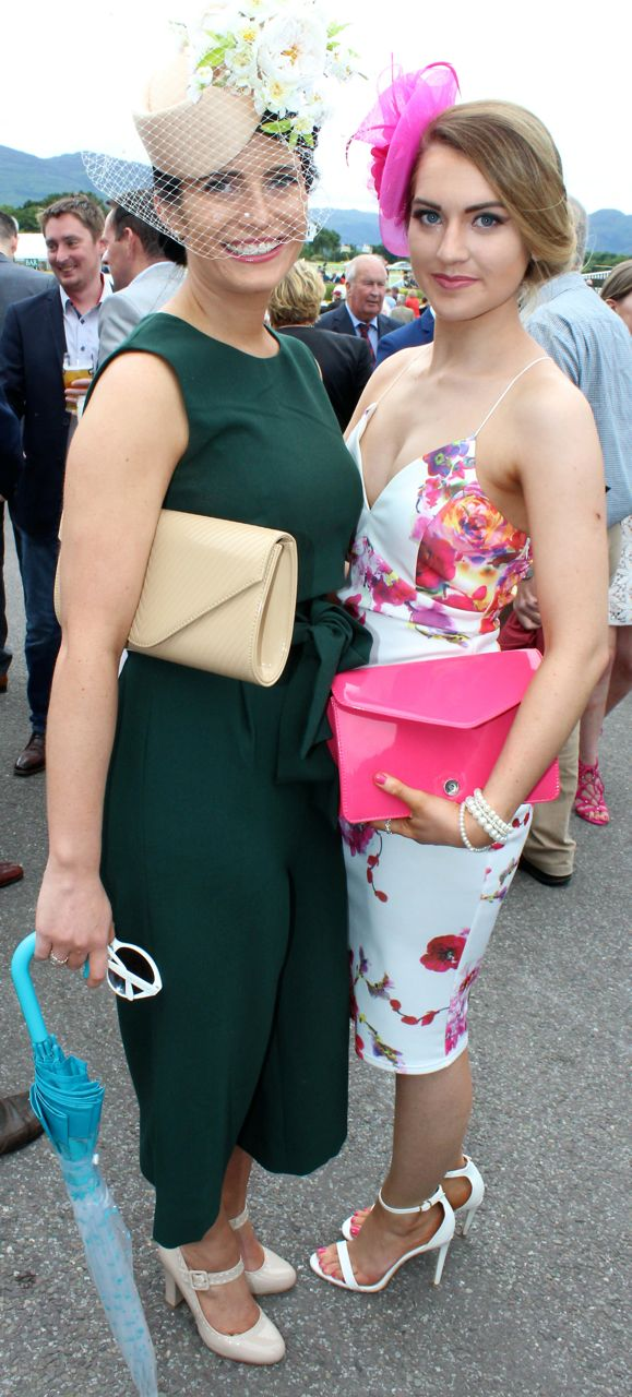 Cliodhna Daly, Firies and Rebecca Lyons, Currans, at the Dawn Milk Ladies Day at Killarney Races on Thursday. Photo by Dermot Crean