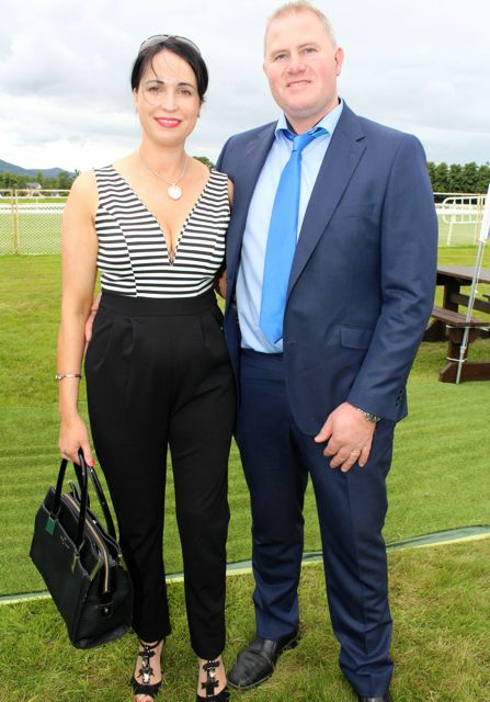 Fiona and Leo O'Connor, Ballymac, at the Dawn Milk Ladies Day at Killarney Races on Thursday. Photo by Dermot Crean