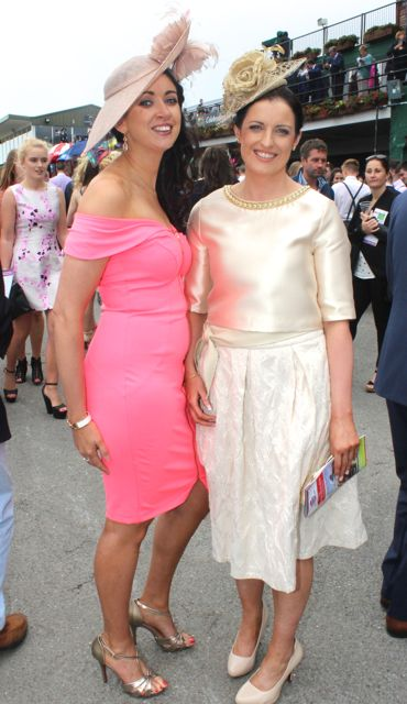 Catherine O'Shea and Margaret O'Connor, Killarney, at the Dawn Milk Ladies Day at Killarney Races on Thursday. Photo by Dermot Crean