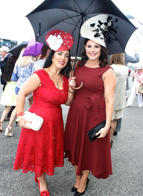 Judges, Marketing Manager at Dawn Milk Teresa Higgins Walker and TV3 presenter Lisa Cannon at the Dawn Milk Ladies Day at Killarney Races on Thursday. Photo by Dermot Crean