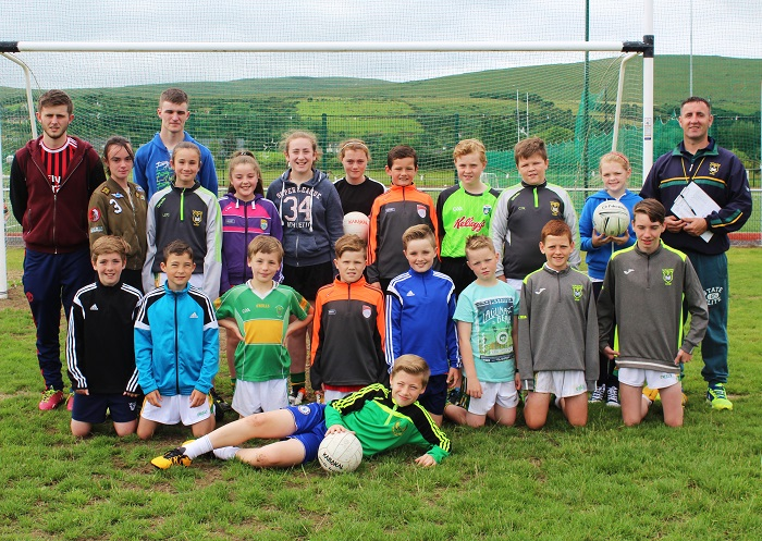 U12 players and their mentors. Photo by Gavin O'Connor.
