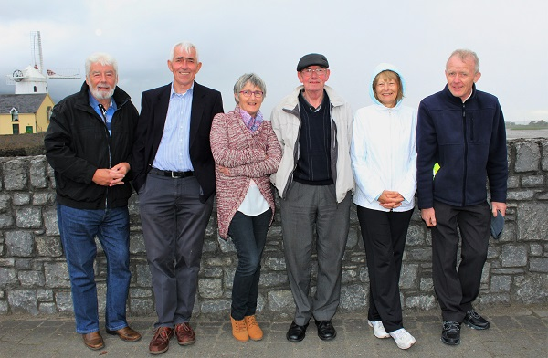 Johnnie Wall, Mike O'Donnell, Eileen Scanlon, Mike Grainey, Sheile Grainey and Mike Grainey at the unveiling of the Nedeen Kelliher memorial plaque in Blennerville. Photo by Gavin O'Connor.