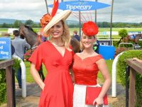 Celebrity Judge Anna Geary with Niamh Kenny, the winner of the Best Dressed Lady at the Tipperary Racecourse on July 9, 2016