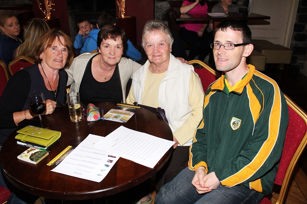 Maureen Guerin, Norma O'Reilly, Brid Culloty and Paul Culloty at the table quiz in aid of Fenit RNLI. Photo by Gavin O'Connor.