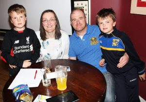 Lee, Kathrine, Randell and Adam Wharton at the table quiz in aid of Fenit RNLI. Photo by Gavin O'Connor.