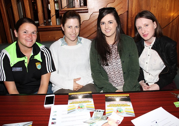 Denise Lynch, Ruth Conconnon, Niamh Godley and Amy Godley at the table quiz in aid of Fenit RNLI. Photo by Gavin O'Connor.