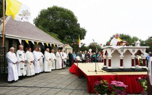 Fr. Sean Hanafin PP. St. John'sChurch, Tralee celebrating Mass at Rath cemetery on Wednesday night for the Holy Souls in Rath. The Mass was attended by over 2,000 people.