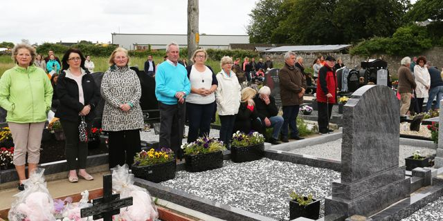Pictured at the annual Cemetery Massfor the holy souls at Rath Cemetery on Wednesday. Most people stayed by their family grave during the Mass.