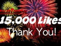 Thanks To You, We've Gone Over 15,000 Likes On Facebook
