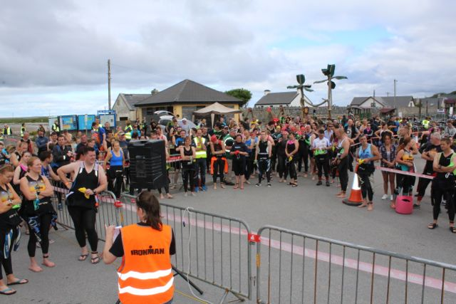 at the Tri Kingdom Come Triathlon in Fenit on Saturday morning. Photo by Dermot Crean