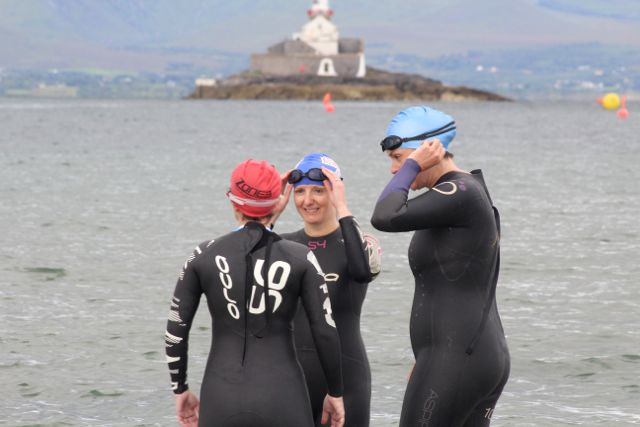 Getting ready at the Tri Kingdom Come Triathlon in Fenit on Saturday morning. Photo by Dermot Crean