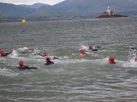 The Try a Tri participants at the Tri Kingdom Come Triathlon in Fenit on Saturday morning. Photo by Dermot Crean