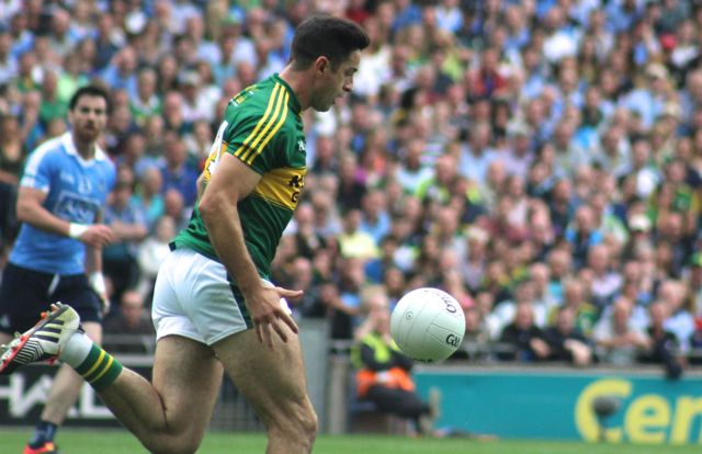 Aidan O'Mahony in action against Dublin yesterday. Photo by Gavin O'Connor.