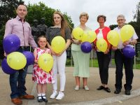 Launching Over The Rainbow with the Rose of Tralee were from left: Kevin Roche, Ciara Murray O'Connor Roche, Carrie O'Connor and Mairead Fernane Maura O'Sullivan and Ted Moynihan of the Kerry Hospice. Photo Gavin  O'Connor.