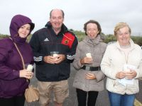 Jacqui Tangney, Donal Daly, Mary Daly and Margaret Breen at the Celebration Of Light at Banna Beach on Wednesday night. Photo by Dermot Crean