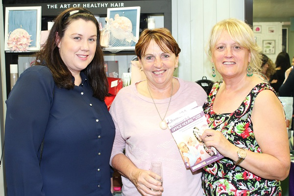 Jennifer Enright, Mary Roche and Mandy Landers at the Brush N Blush Ultimate Girls Pampering Evening. Photo by Gavin O'Connor.