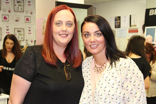 Joanne Cunningham and Bernie Hart at the Brush N Blush Ultimate Girls Pampering Evening. Photo by Gavin O'Connor.