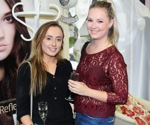 Jamie O'Carroll and Lynn Cosgrove at the Brush N Blush Ultimate Girls Pampering Evening. Photo by Gavin O'Connor.