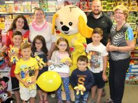 At the presentation of donations to Erin's Fund at Caballs Toymaster, Tralee were in front; Ruairi O'Flaherty, Alex O'Flaherty, Megan O'Sullivan, Erin O'Sullivan, Jack McElligott and Adam O'Flaherty. Back; Louise O'Sullivan, caroline O'Sullivan, Toby from Toymaster, Paul O'Sullivan and Ann Laide of Caballs Toymaster. Photo by Dermot Crean