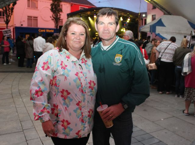 Jackie and Maurice Mannix at the Nathan Carter concert on Tuesday night. Photo by Dermot Crean