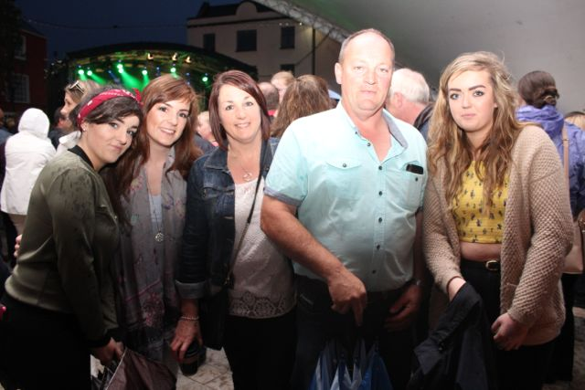 Orla, Claire, Anne and Mark Maher and Niamh O'Brien at the Nathan Carter concert on Tuesday night. Photo by Dermot Crean