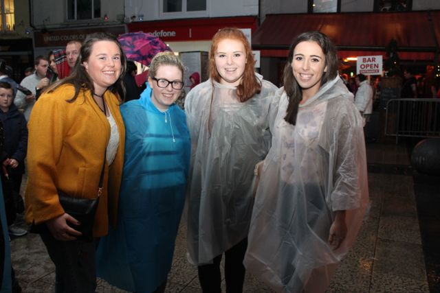 Catherine Carmody, Amy McNamara, Rebecca Lynch and Martina Guiney at the Nathan Carter concert on Tuesday night. Photo by Dermot Crean