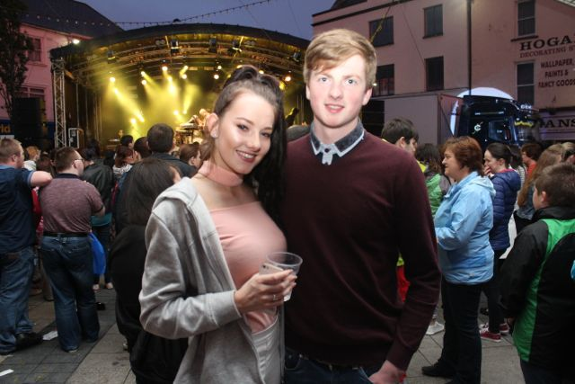 Patricia Kerins and Anthony O'Connor at the Nathan Carter concert on Tuesday night. Photo by Dermot Crean