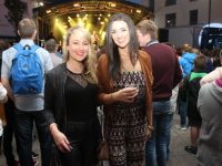 Sinead Boyle and Sarah Power at the Nathan Carter concert on Tuesday night. Photo by Dermot Crean