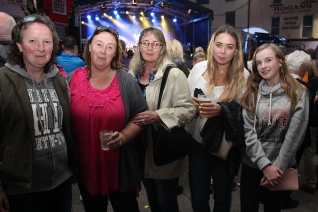 Hannah Sugrue, Breda Sugrue, Siobhan David Hannah David and Catherine Coleman at the Nathan Carter concert on Tuesday night. Photo by Dermot Crean