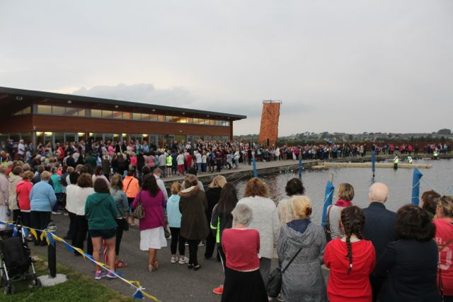 The large crowd at the Celebration Of Light at the Tralee Bay Wetlands on Tuesday night. Photo by Dermot Crean