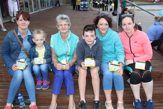 Liz and Edel O'Leary, Teresa Smullen, Daithi Smullen, Brenda O'Regan and Mary Smullen at the Celebration Of Light at the Tralee Bay Wetlands on Tuesday night. Photo by Dermot Crean