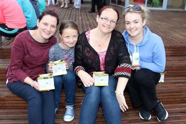 Lisa Casey, Shauna Casey, Julie O'Halloran and Catherine O'Halloran at the Celebration Of Light at the Tralee Bay Wetlands on Tuesday night. Photo by Dermot Crean