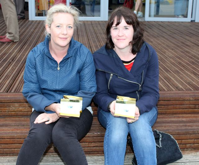 Vanetia Lucid and Marie Morris at the Celebration Of Light at the Tralee Bay Wetlands on Tuesday night. Photo by Dermot Crean
