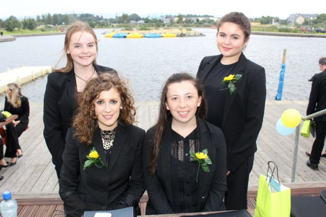 Sinead Foran, Niamh O'Halloran, Grace McCarthy and Charlotte O'Halloran at the Celebration Of Light at the Tralee Bay Wetlands on Tuesday night. Photo by Dermot Crean