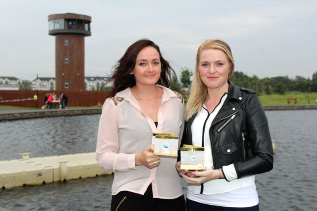 Lauren Fitzpatrick and Caroline Simpson at the Celebration Of Light at the Tralee Bay Wetlands on Tuesday night. Photo by Dermot Crean