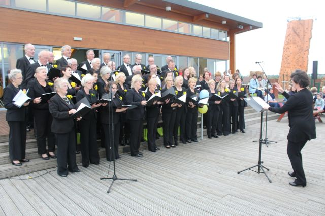 Members of the Kerry Choral Union at the Celebration Of Light at the Tralee Bay Wetlands on Tuesday night. Photo by Dermot Crean
