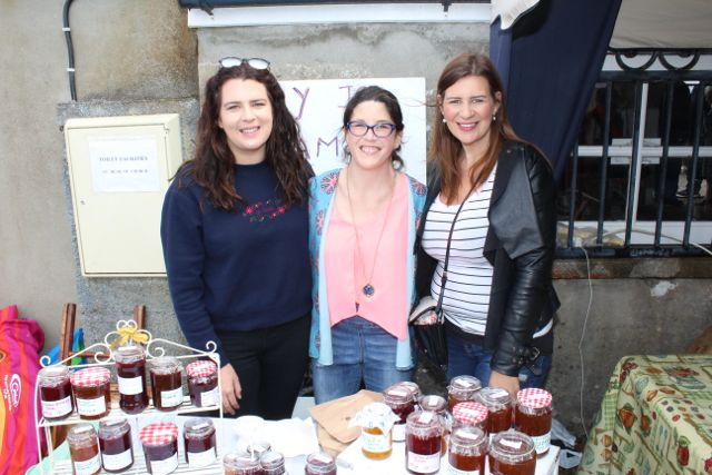 Sarah Kate Daly, Mary Jo Daly and Catriona O'Grady, Killorglin, at the Open Day at Churchill Forge on Saturday. Photo by Dermot Crean