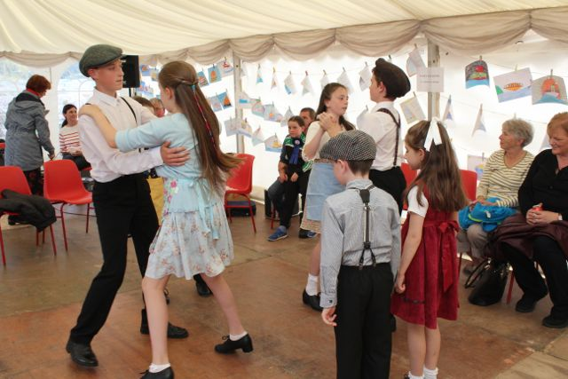 Dancing in the marquee at the Open Day at Churchill Forge on Saturday. Photo by Dermot Crean