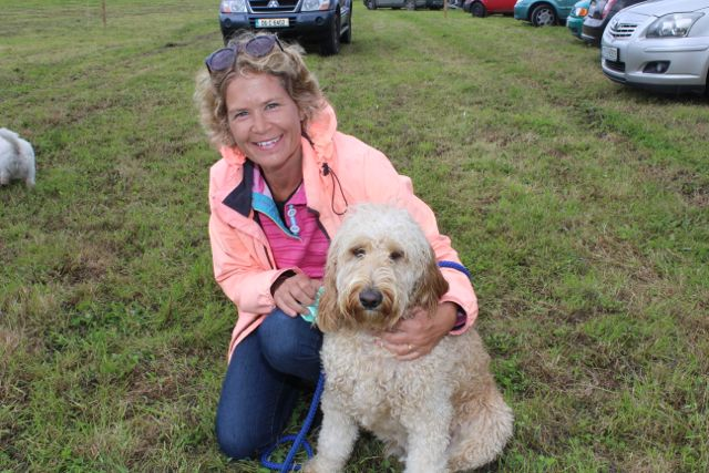Antoinette Boyd and 'Benji' at the Open Day at Churchill Forge on Saturday. Photo by Dermot Crean