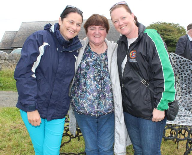 Suzanne Doyle, Maureen Harris and Therese Williams at the Open Day at Churchill Forge on Saturday. Photo by Dermot Crean